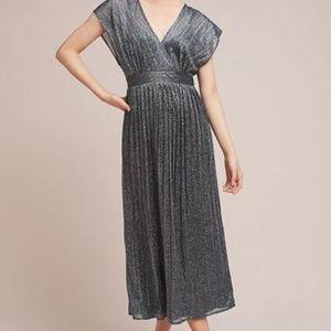 Moulinette Soeurs Metallic Midi Dress
